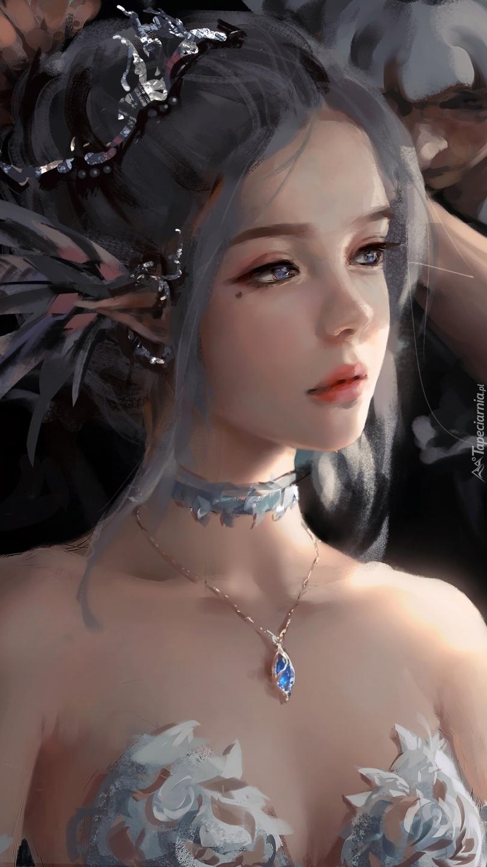 Dziewczyna w biżuterii