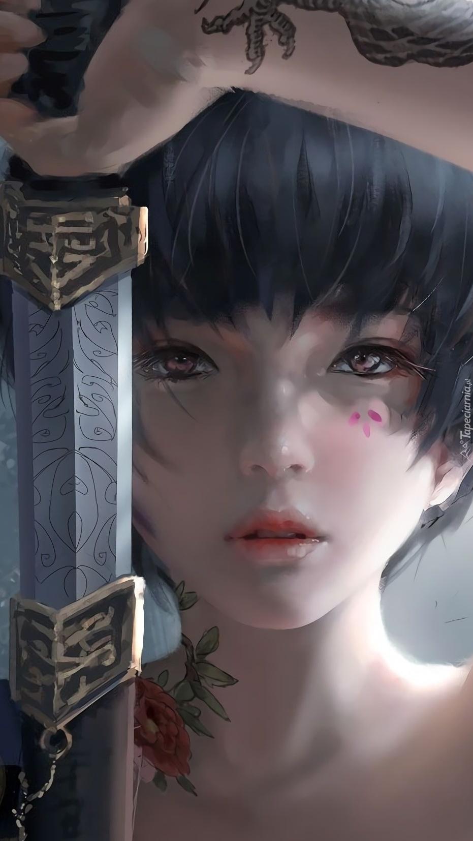 Dziewczyna z mieczem i tatuażem
