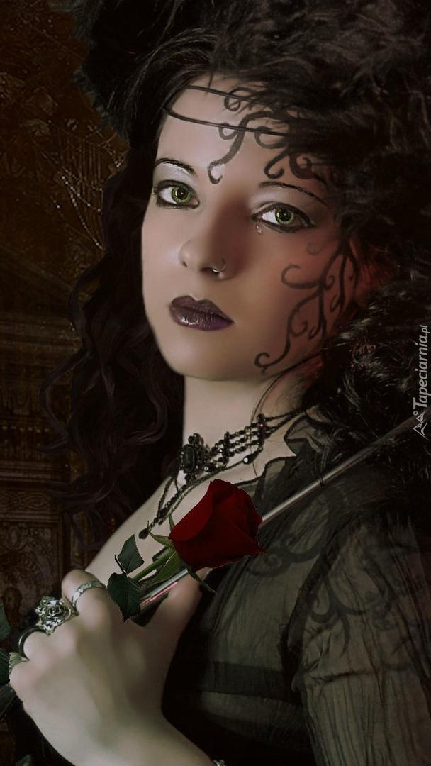 Dziewczyna z różą