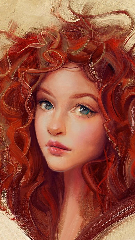 Dziewczyna z rudymi lokami