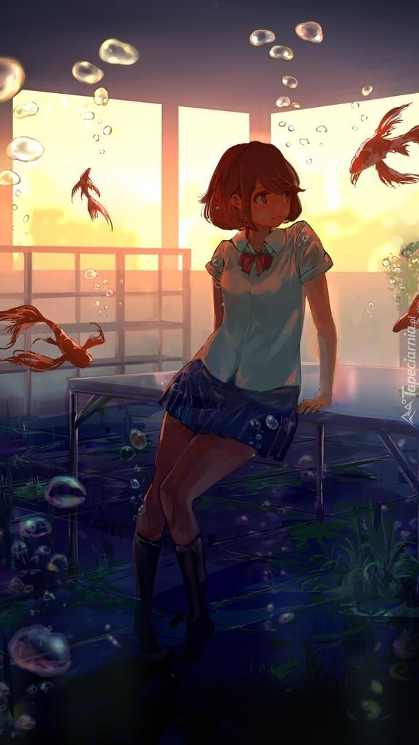 Dziewczyna z rybkami