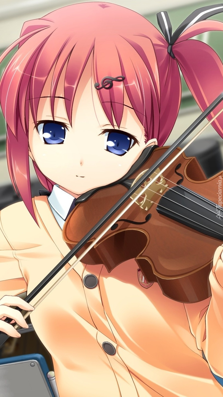 Dziewczynka grająca na skrzypcach