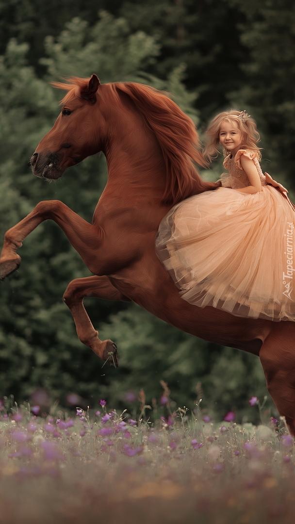 Dziewczynka na koniu