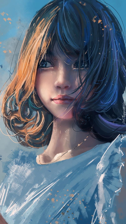 Dziewczynka w niebieskiej bluzce