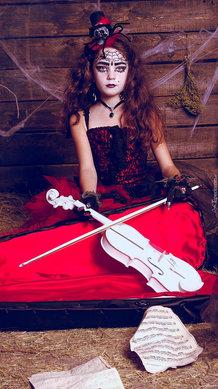 Dziewczynka z białymi skrzypcami