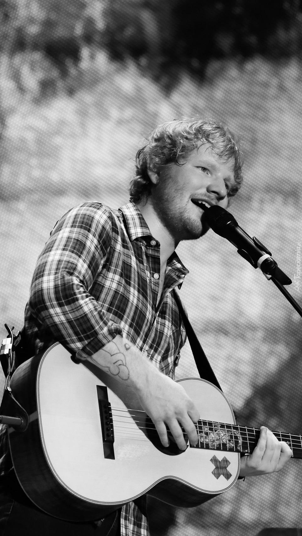 Ed Sheeran z gitarą