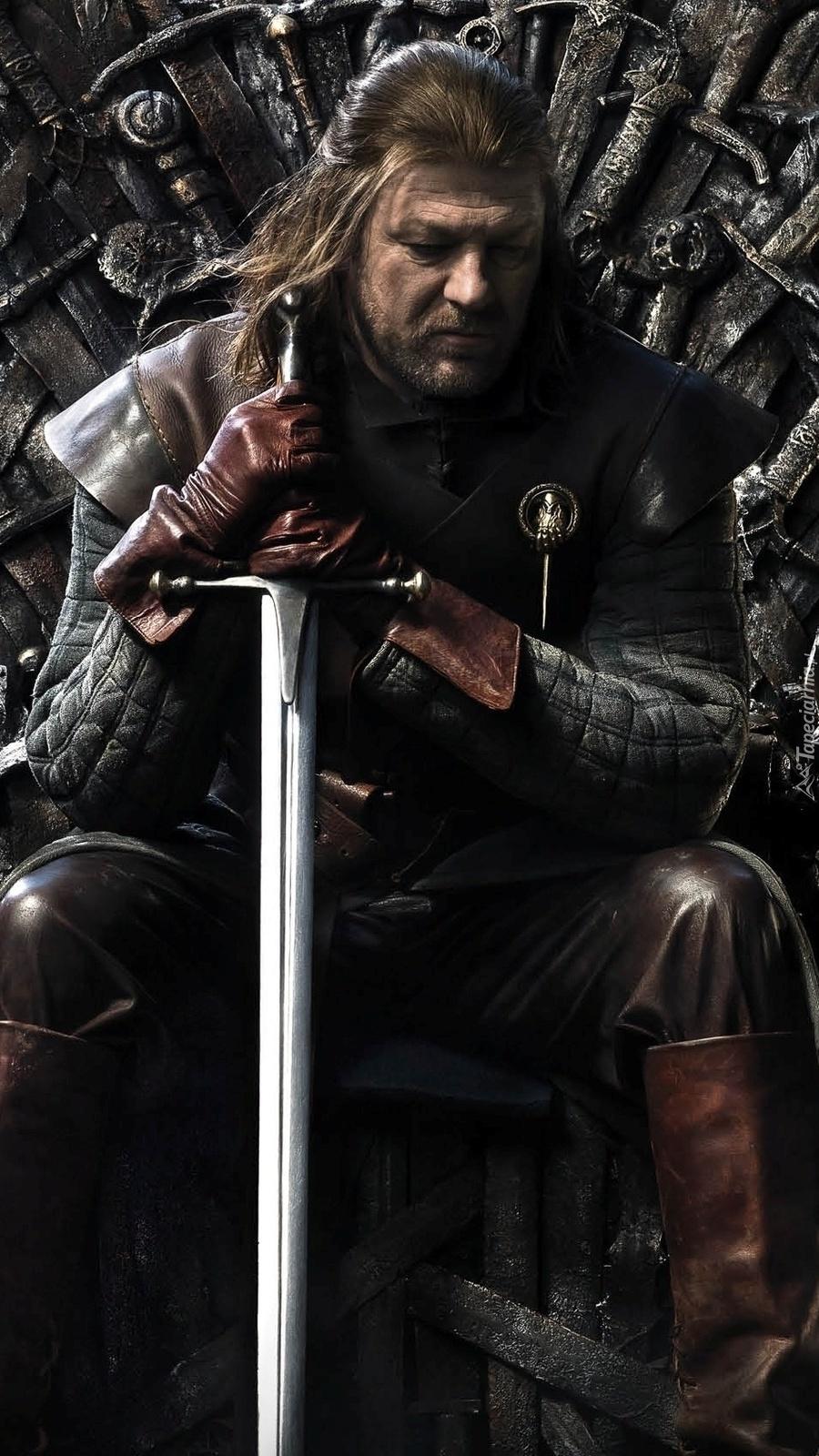 Eddard Stark z mieczem