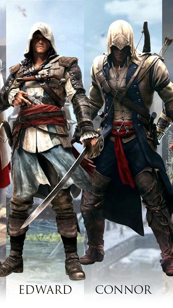 Edward i Connor z gry Assassins Creed