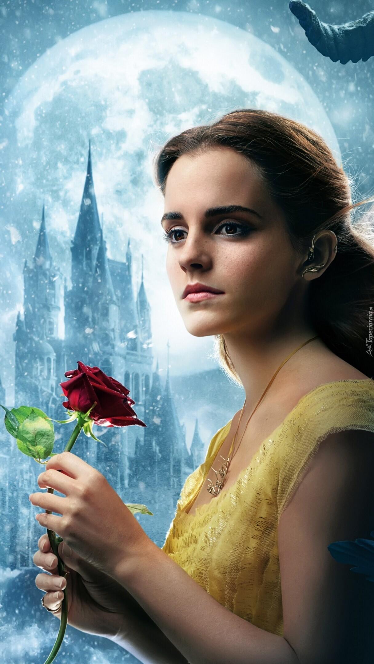 Emma Watson z różą