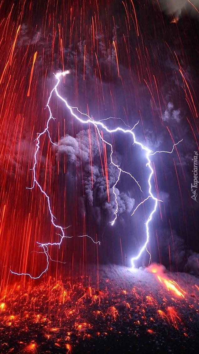 Erupcja  wulkanu Sakurajima
