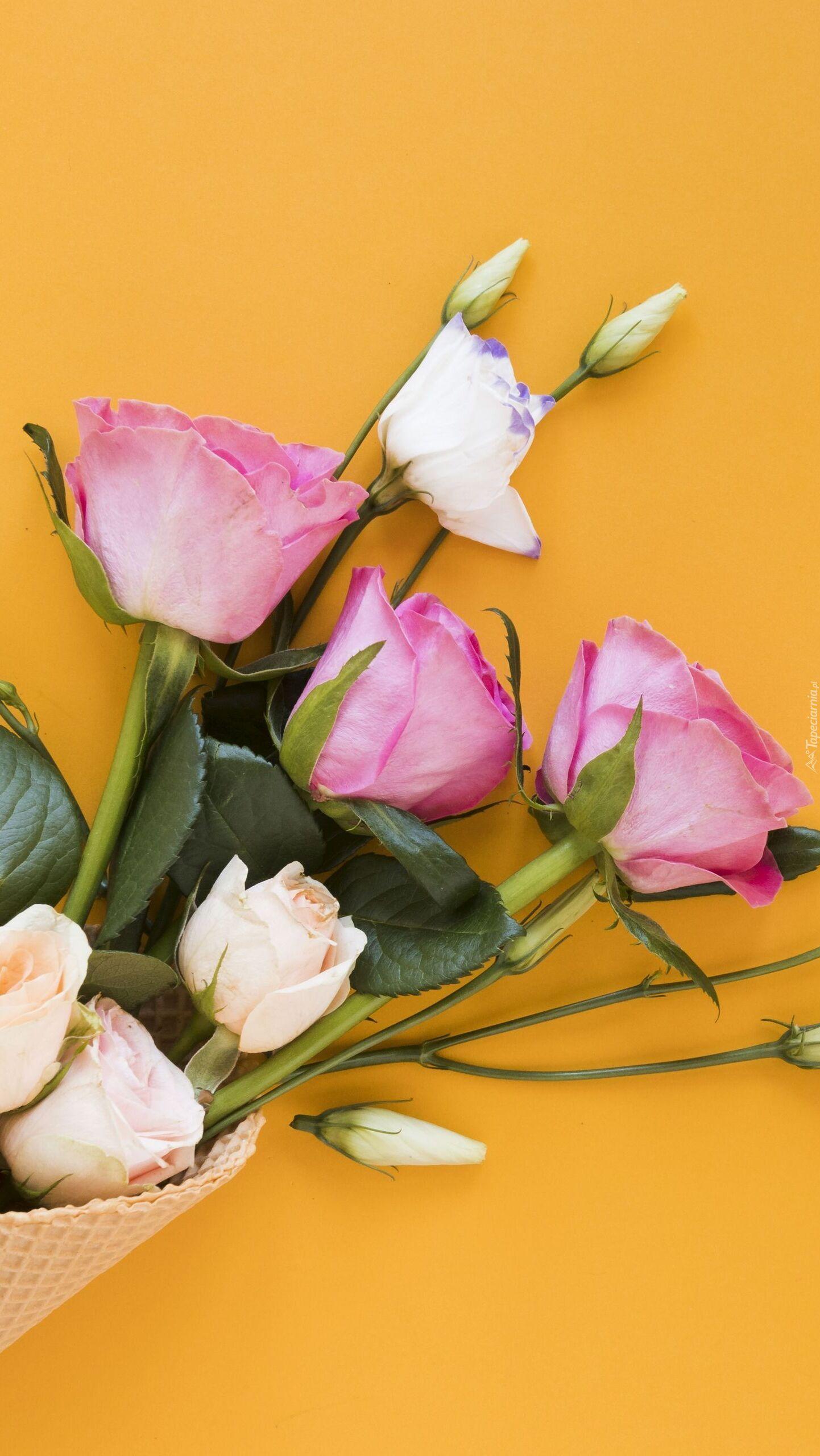 Eustoma i róże