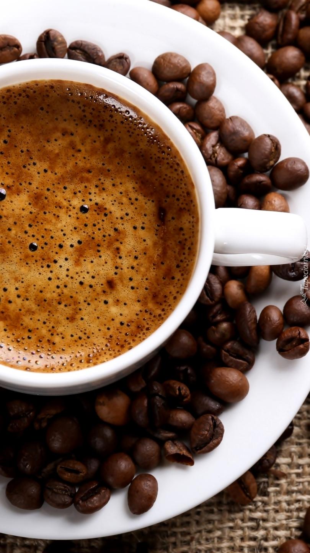 Filiżanka kawy z pianką