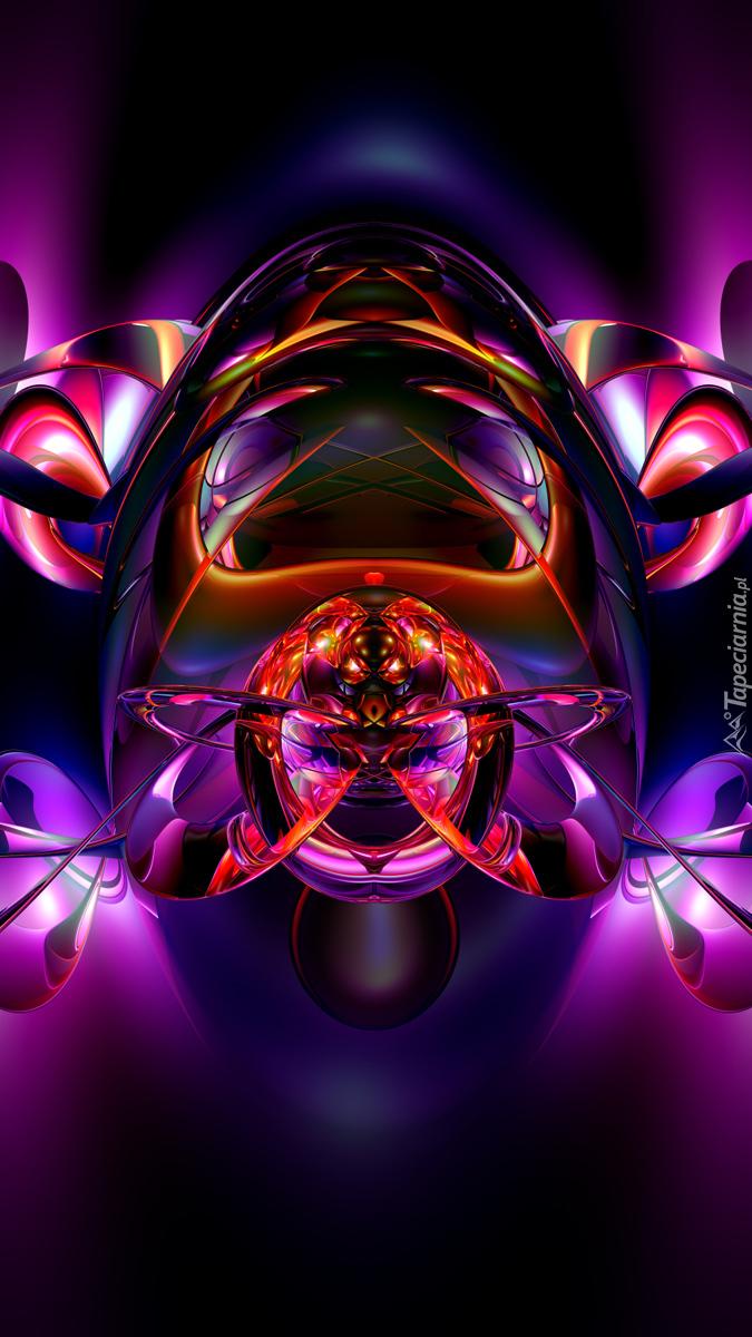 Fioletowa abstrakcja w 3D