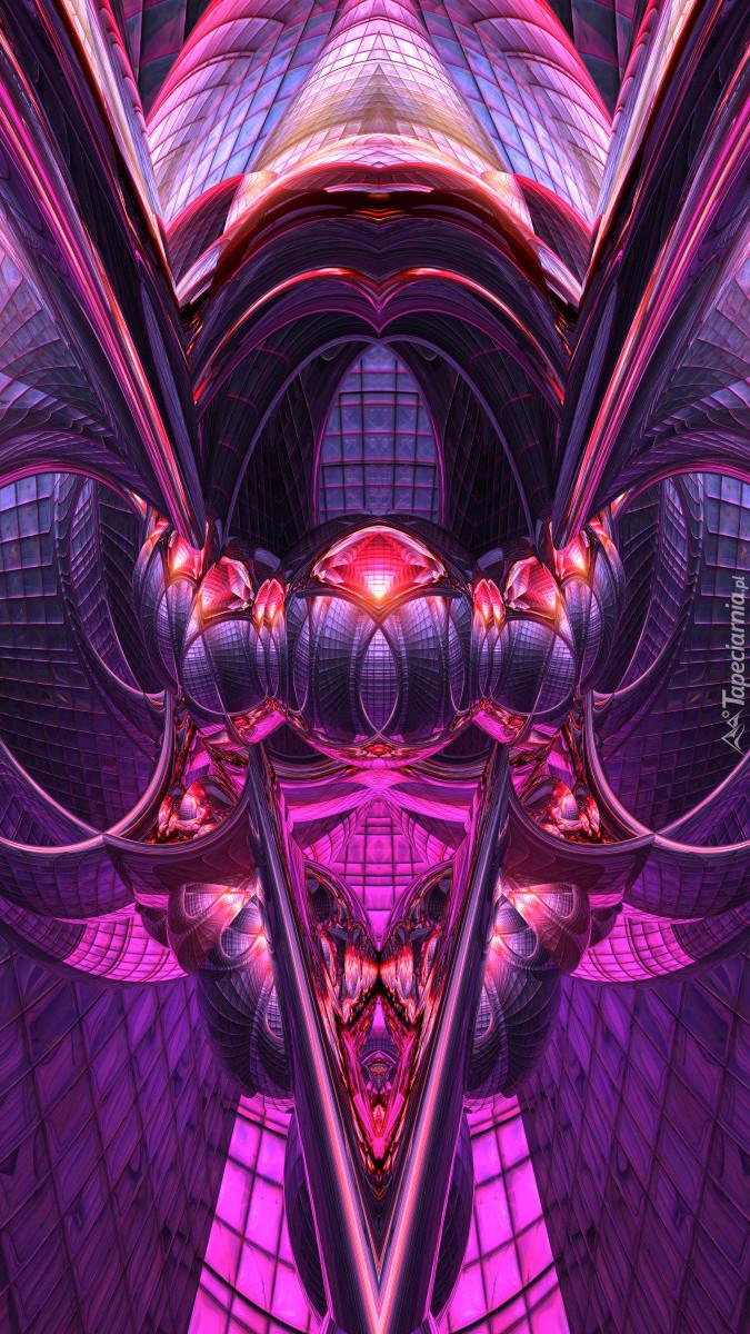 Fioletowo-różowa abstrakcja