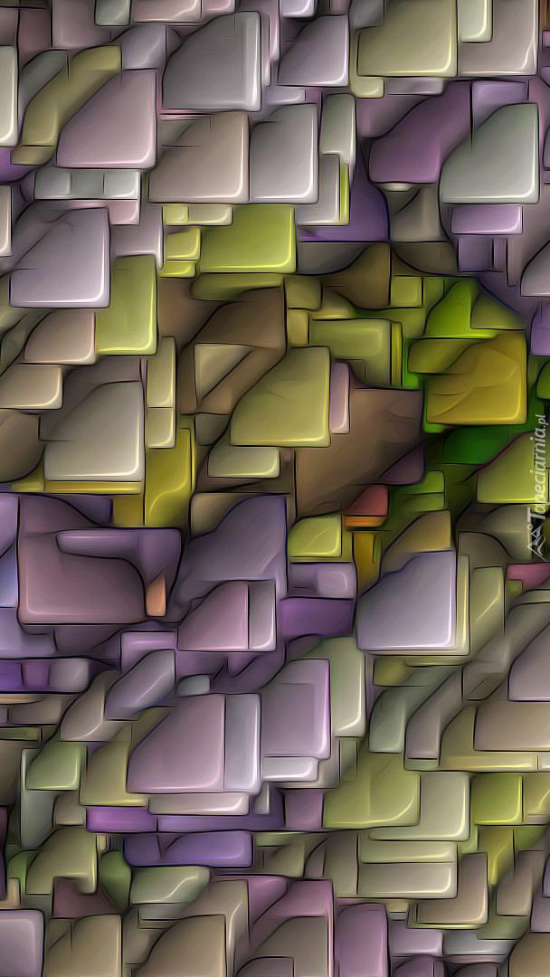 Fioletowo-zielona tektura