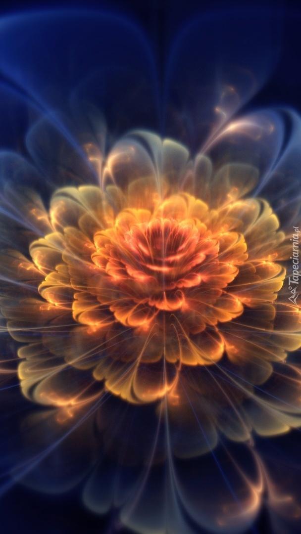 Fractalisowa świetlista róża