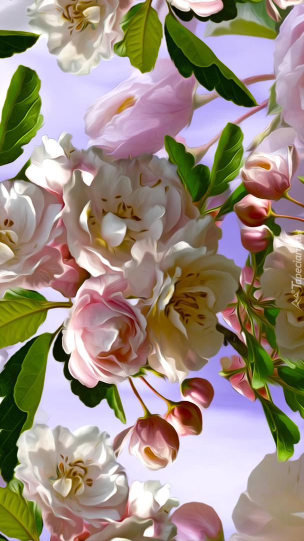 Gałązka kwitnącego drzewa owocowego