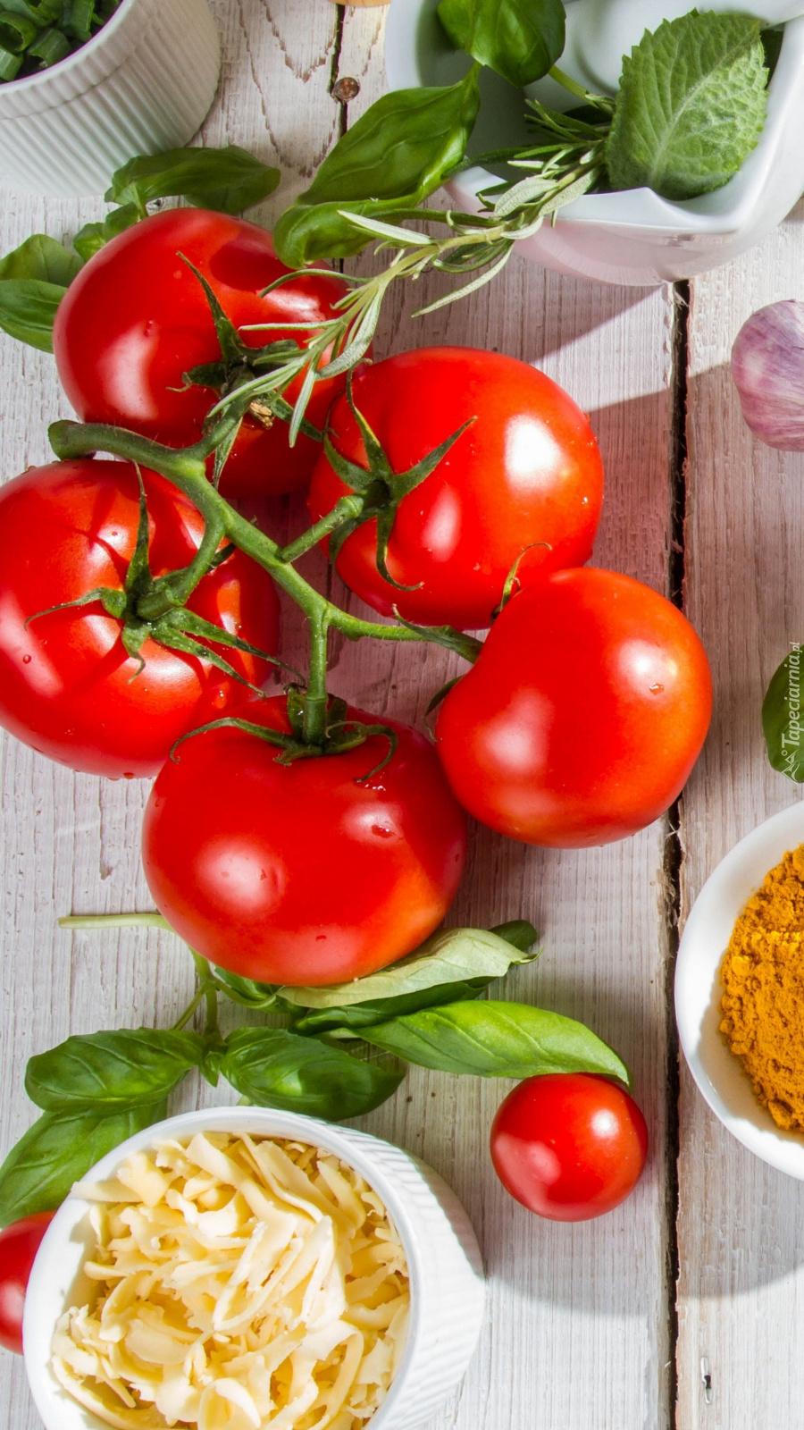Gałązka z pomidorami