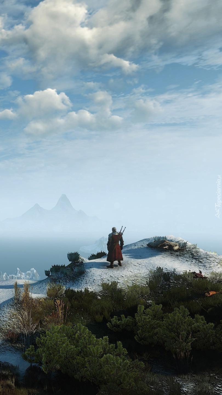 Geralt na szczycie góry