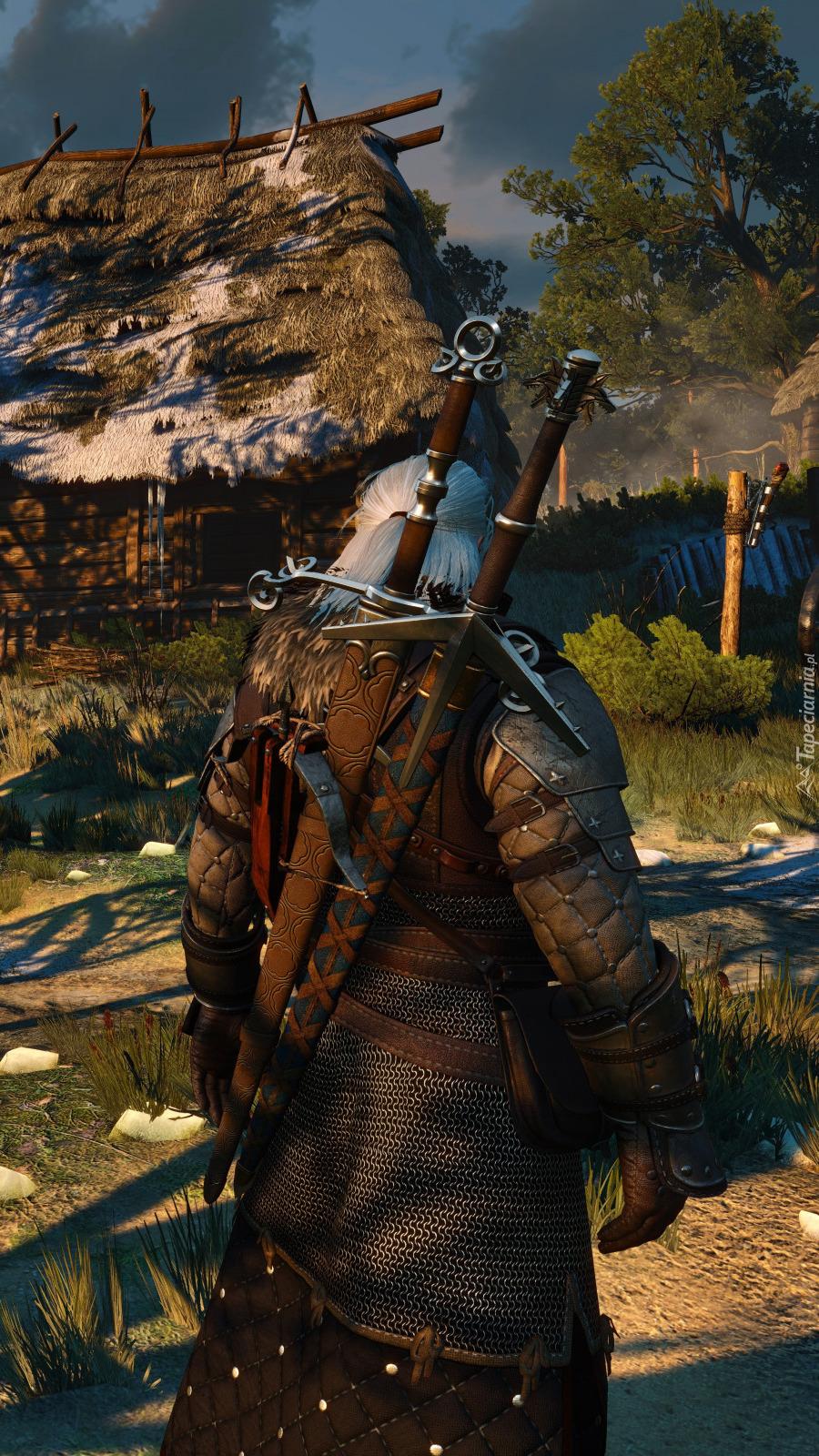 Geralt w wiosce