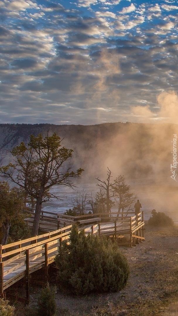 Gorące źródła w Parku Narodowym Yellowstone