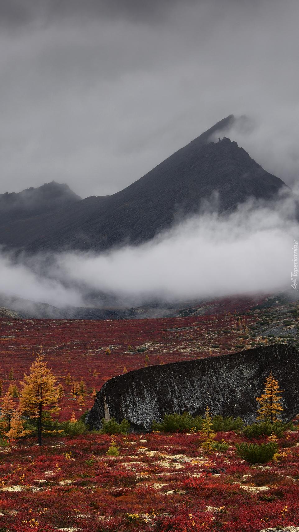 Góry Kołymskie we mgle