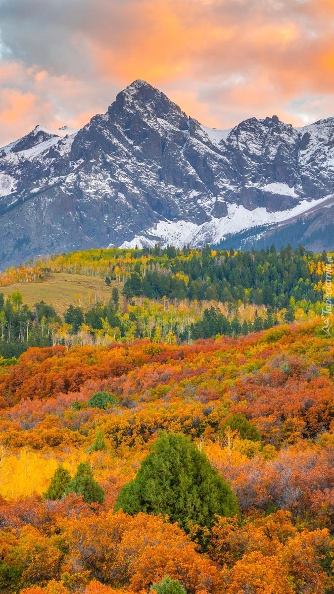 Góry San Juan Mountains jesienią