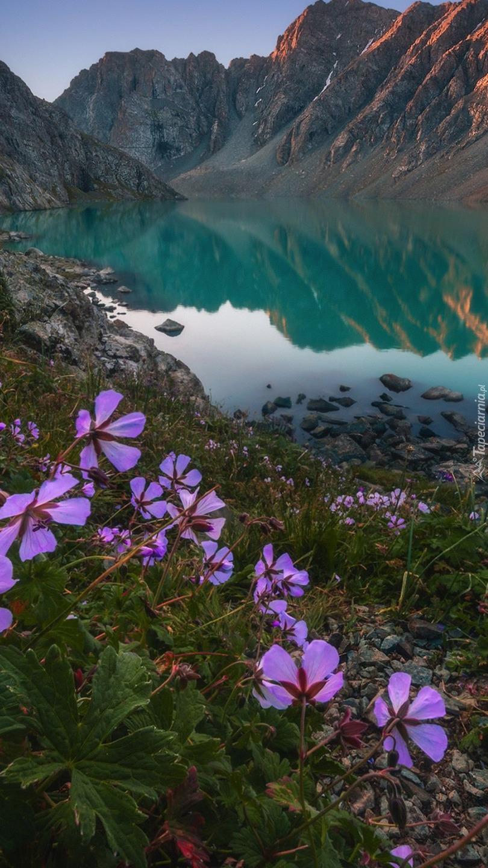Góry Tienszan z jeziorem Ala-Kul
