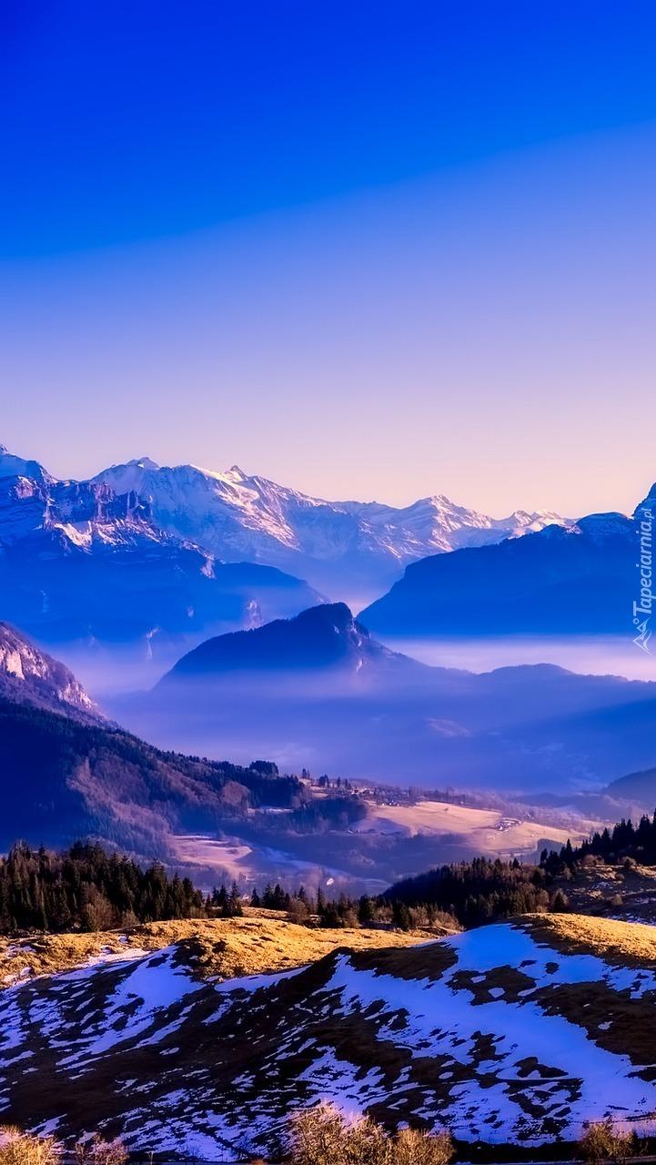 Góry we mgle