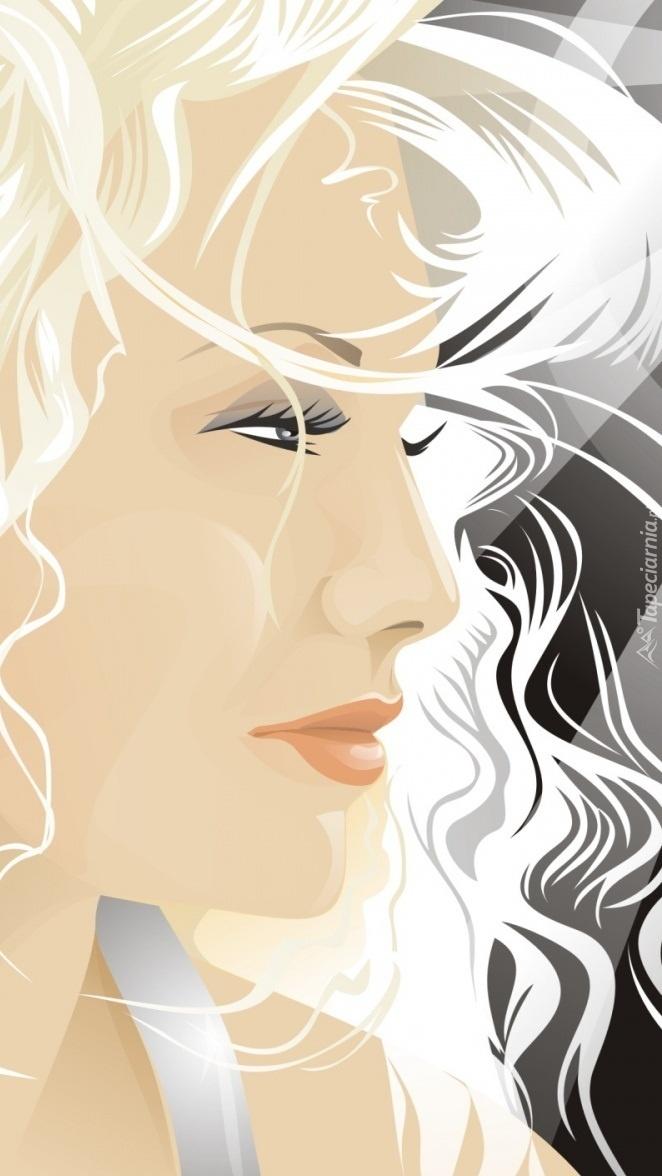 Graficzna blondynka