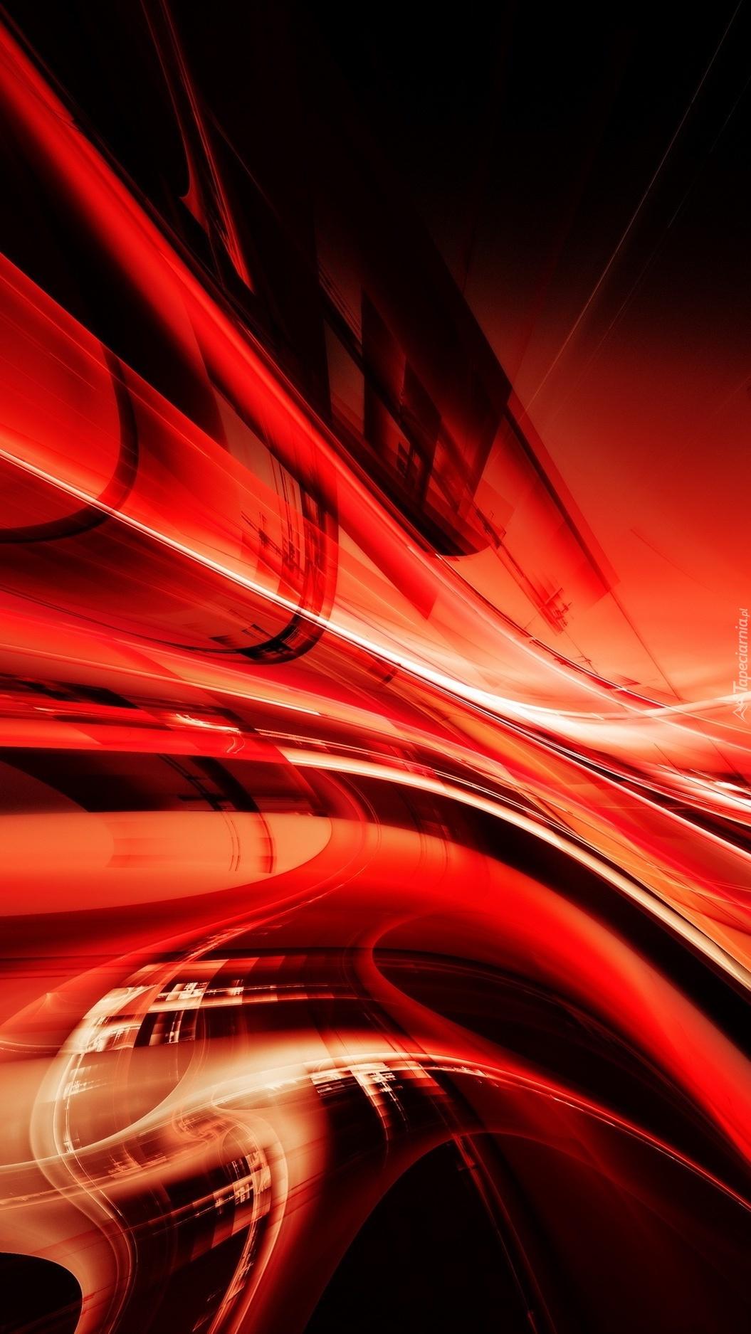 Graficzne czerwone smugi w abstrakcji