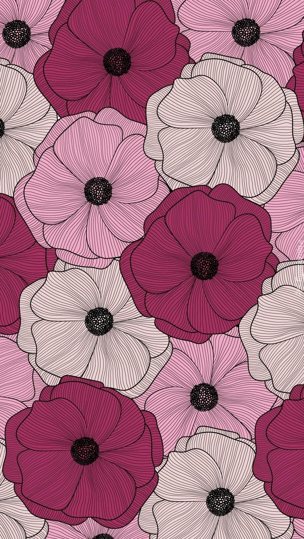 Graficzne kolorowe kwiaty
