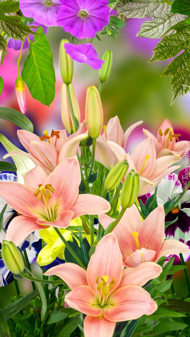 Graficzne lilie