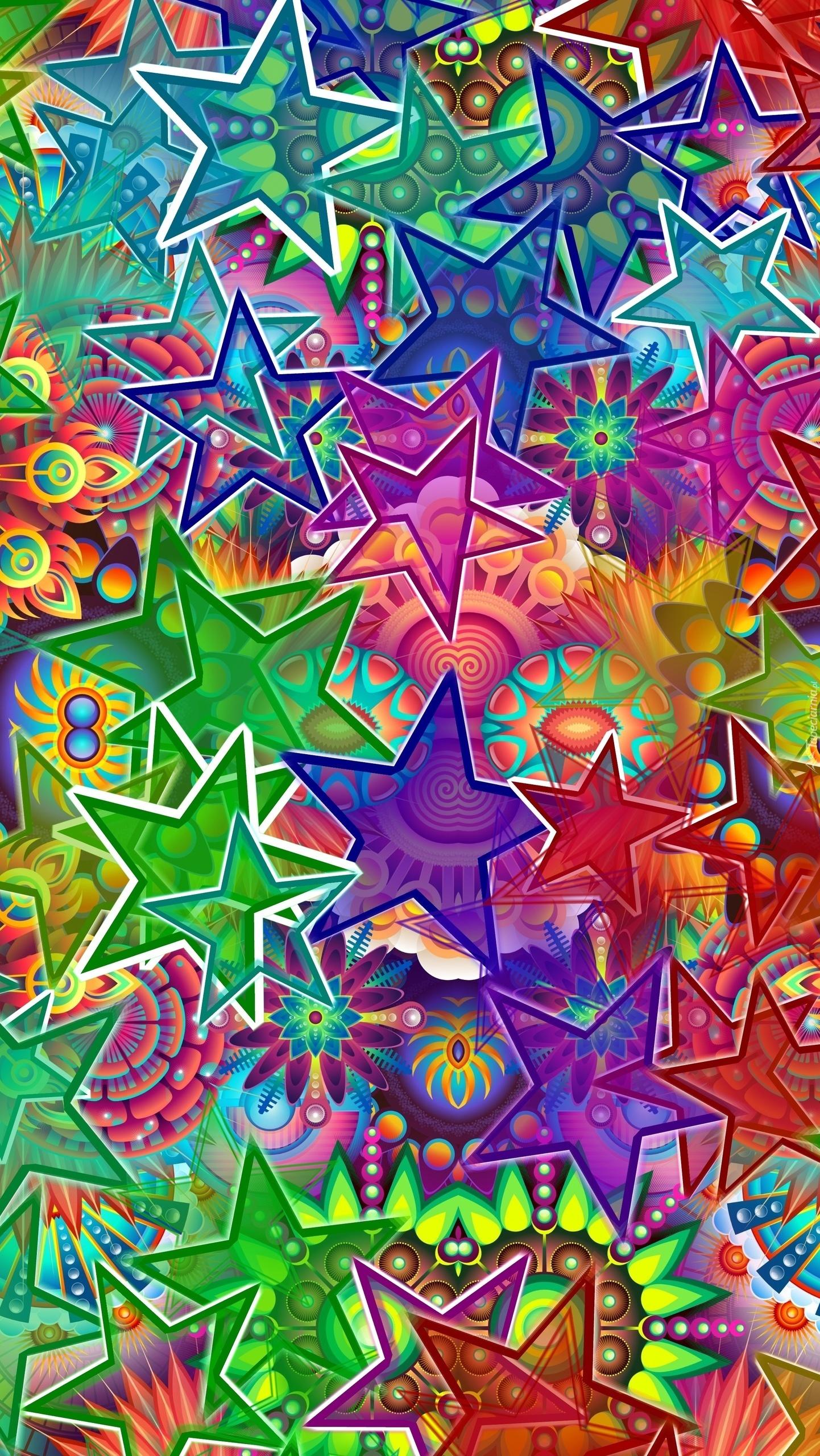 Grafika kolorowych gwiazdek