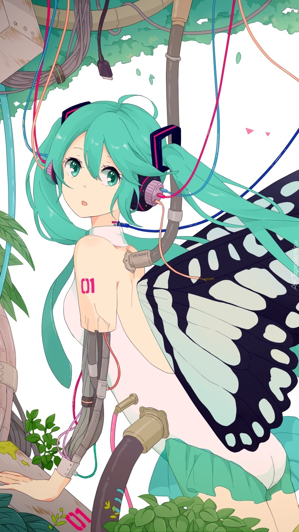Hatsune Miku słucha muzyki