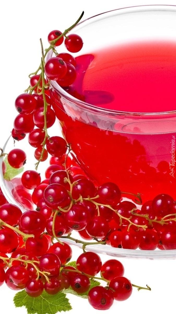 Herbata owocowa  z czerwoną porzeczką