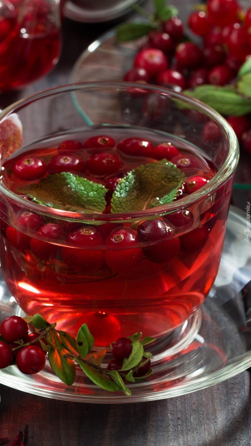 Herbata z żurawiną