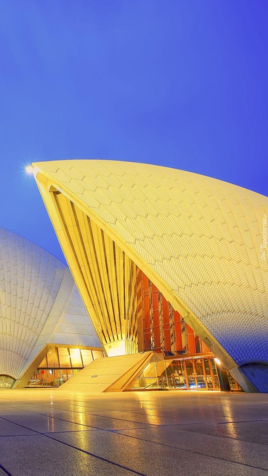 Imponujący gmach opery w Sydney