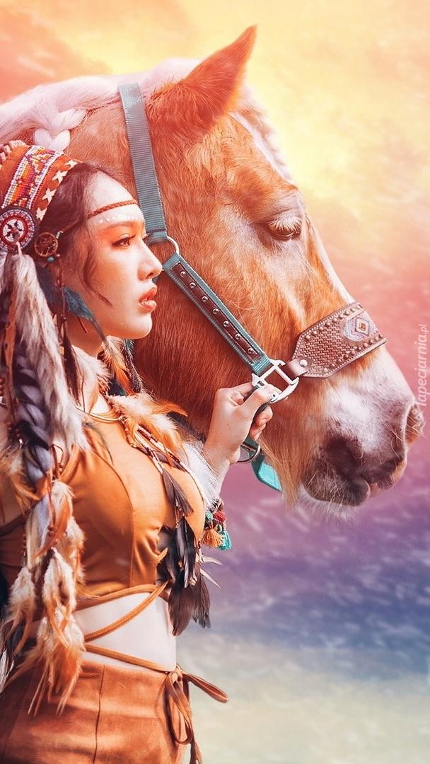 Indianka z koniem