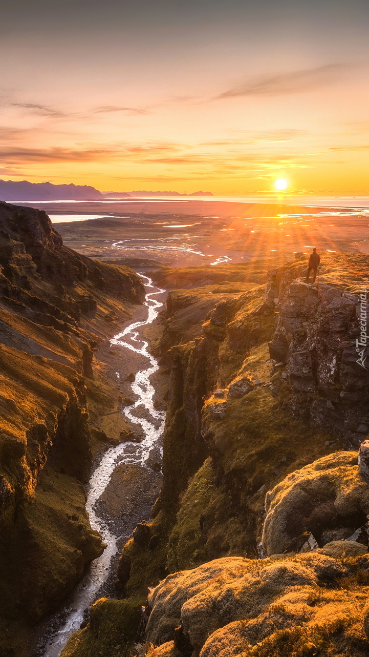 Islandzki kanion Fjadrargljufur