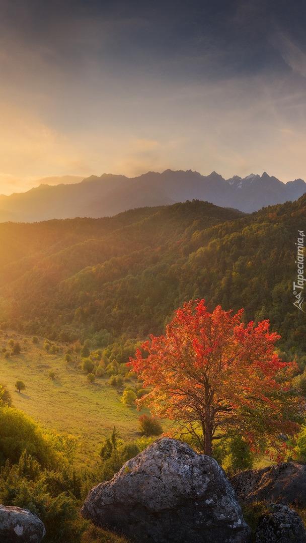 Jesień w górach Kaukaz