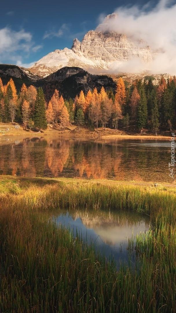 Jezioro Antorno Lake w Dolomitach