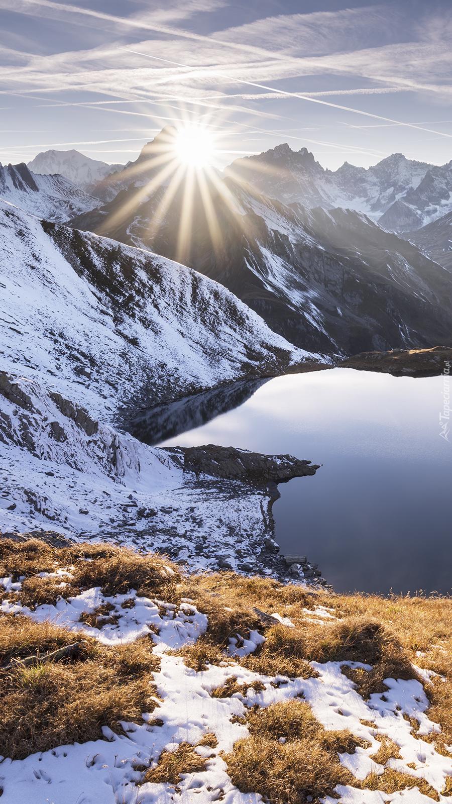 Jezioro Heart w górach