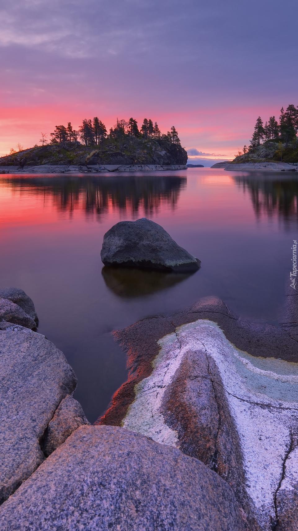 Jezioro Ładoga w Rosji