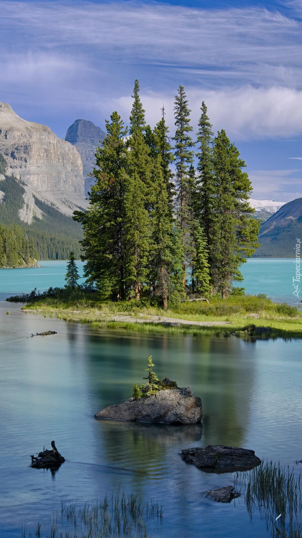 Jezioro Maligne w Kanadzie