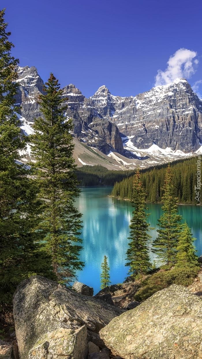 Jezioro Moraine w kanadyjskich górach