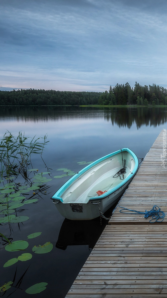 Jezioro Muskan Lake w Szwecji
