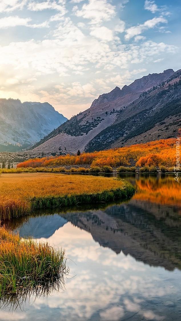 Jezioro North Lake i góry Sierra Nevada
