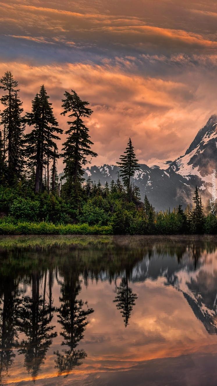 Jezioro Picture w górach Mount Shuksan