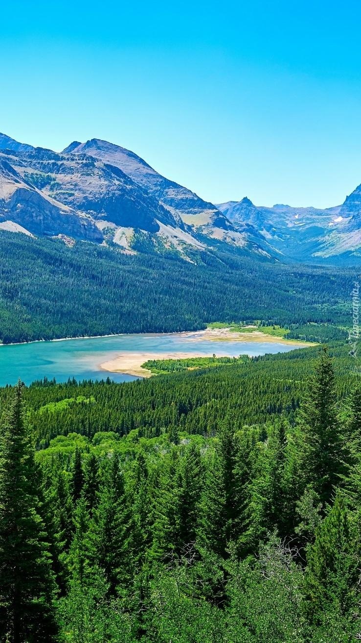 Jezioro Saint Mary Lake w górach
